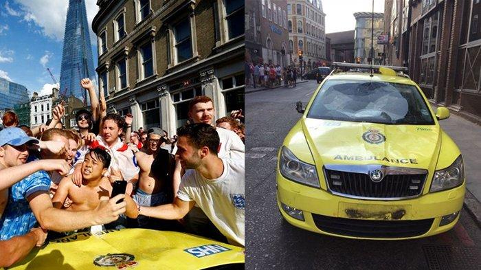 Inggris Lolos Semifinal Piala Dunia, Suporter Rayakan di Jalanan Hingga Rusak Satu Ambulans