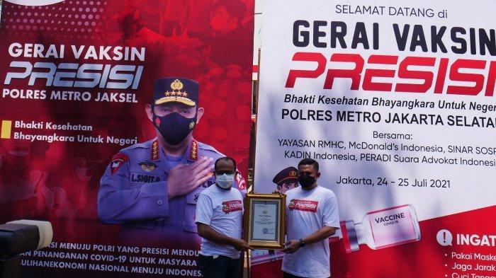 Bersama Peradi SAI, Kapolres Jakarta Selatan Kebut Program Vaksinasi Covid