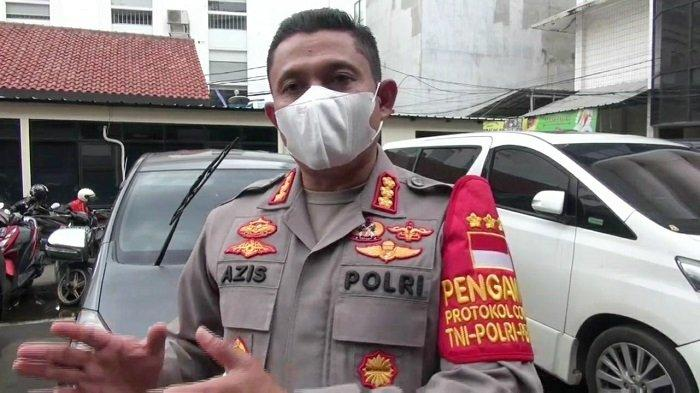 Kapolres Metro Jakarta Selatan Kombes Pol Azis Andriansyah saat diwawancarai terkait bentrokan di Pancoran, Kamis (25/2/2021).