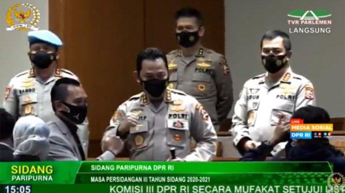 Sah, DPR RI Setujui Komjen Listyo Sigit Prabowo Kapolri Baru Lewat Rapat Paripurna