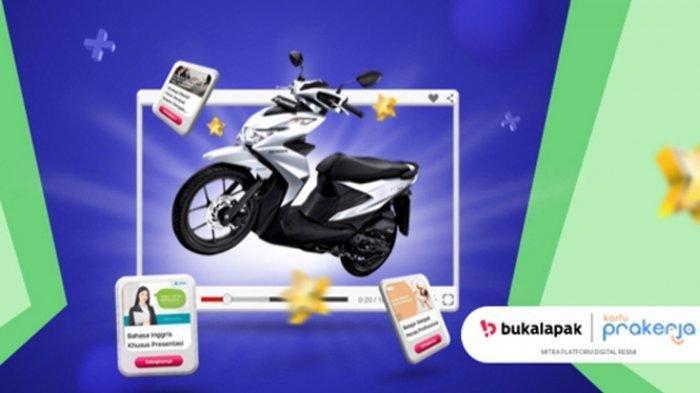 Kompetisi Peserta Kartu Prakerja berhadiah Motor Honda Beat Sporty dari Bukalapak