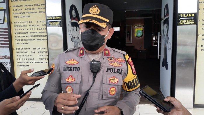 Wakapolres Tangsel, Kompol Stephanus Luckyto di Mapolres Tangsel, Jalan Raya Promoter, Serpong, Selasa (15/12/2020).