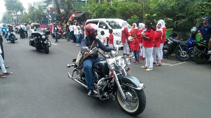 Demi Ikut Kirab Obor Asian Games 2018, Anggota Komunitas Harley Davidson Rela Cuti Kerja