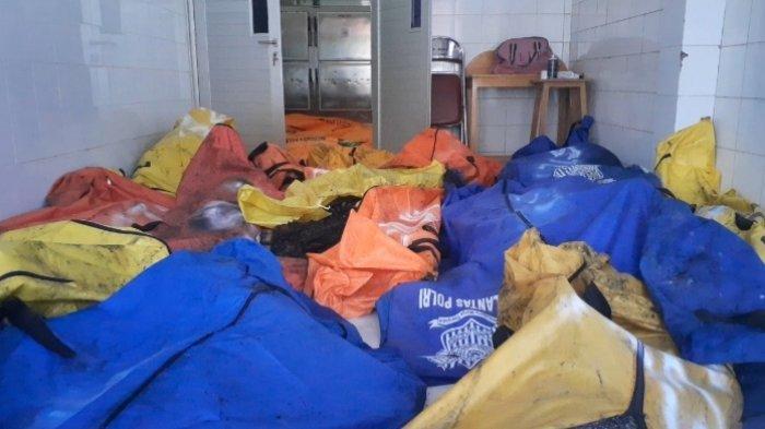 Kondisi jenazah di Instalasi Pemulasaraan Jenazah RSUD Kabupaten Tangerang, Rabu (8/9/2021).