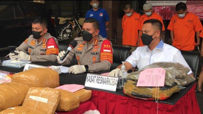 Polisi Tangkap 4 Pengedar Narkoba di Jakarta dan Bogor: 13,5 Kg Ganja Disita