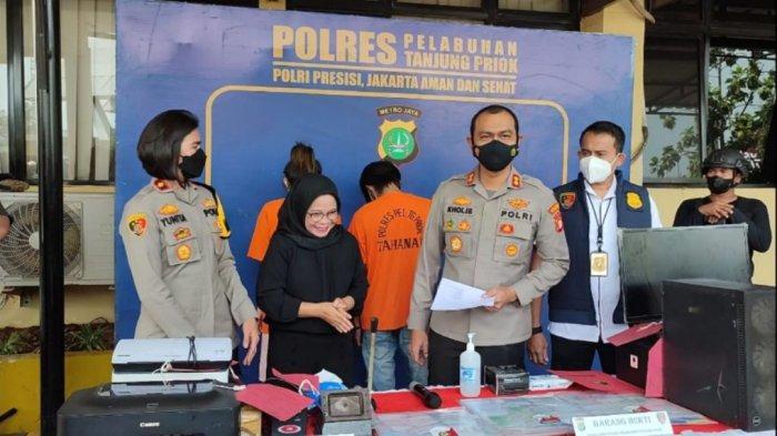 Polres Pelabuhan Tanjung Priok Tangkap Pasutri Pemalsu Sertifikat Vaksinasi Covid-19