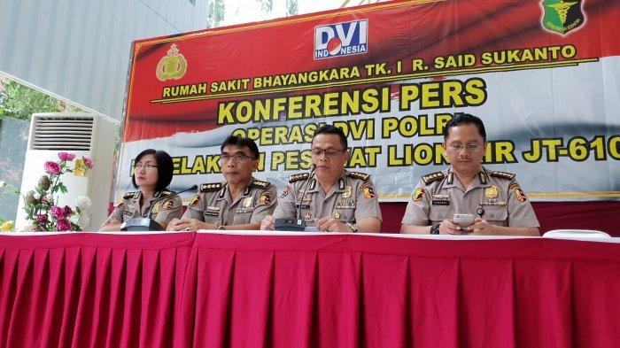 DVI Polri Pastikan 195 Kantong Jenazah Korban Lion Air PK-LQP Telah Teridentifikasi