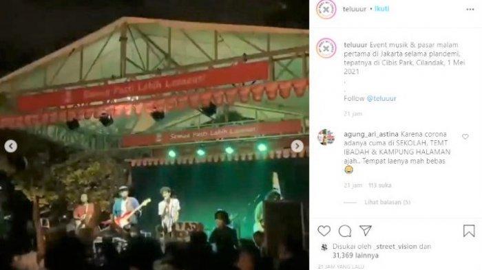 Konser Musik di Pasar Minggu Viral, Izinnya Bazar UMKM Tapi Sepi Pengunjung & Terancam Sanksi Pidana