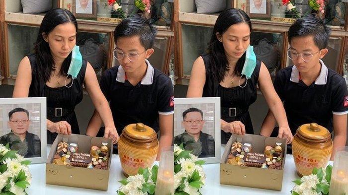 Masih Berduka, Putra Korban Kecelekaan di Karawaci Rayakan Hari Lahir dengan Pakaian Serba Hitam