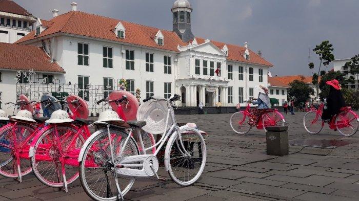 Untuk Hiburan Wisatawan saat Lebaran, Jasa Penyewa Sepeda di Kota Tua Tetap Buka