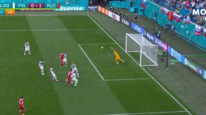 BERLANGSUNG Live Streaming Piala Eropa 2020 Finlandia vs Rusia, Aleksei Miranchuk Buat Rusia Unggul