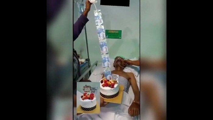Viral Anak Hadiahkan Kue Isi Uang untuk Ayahnya yang Terbaring di RS, Diduga Kondisinya Tak Sadar