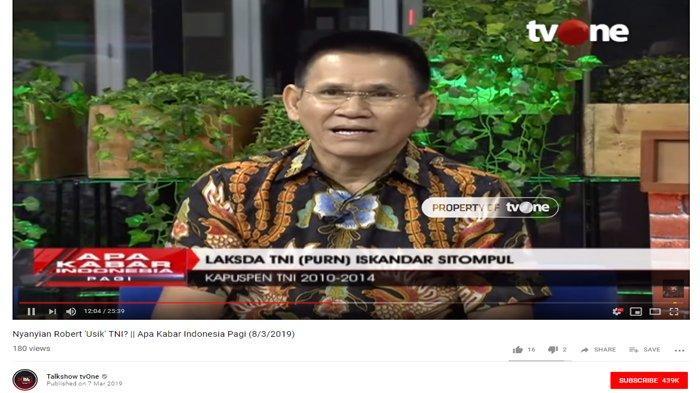 Bagikan Kisah Serupa dengan Robertus Robet, Laksda Iskandar: Hadap Panglima TNI Akui Kesalahan