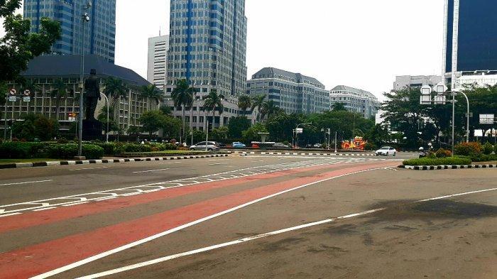 Buruh Batal Demo di Istana Negara, Lalu Lintas Jalan Medan Merdeka Barat Siang Ini Lancar