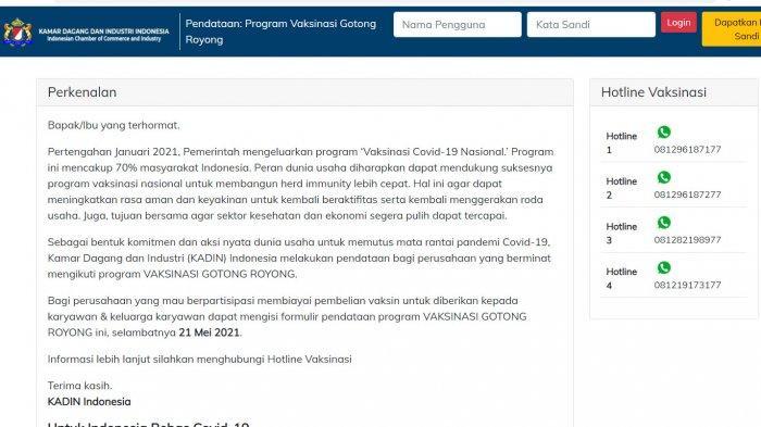 Dibuka Hari ini, Berikut Link dan Cara Daftar Vaksinasi Gotong Royong untuk Karyawan