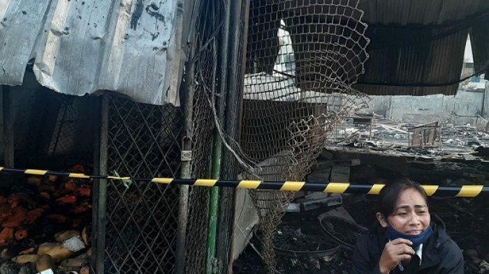 Situasi Terkini di Pasar Kambing Tanah Abang Pasca-Terbakar, Barang Dagangan Porak-poranda