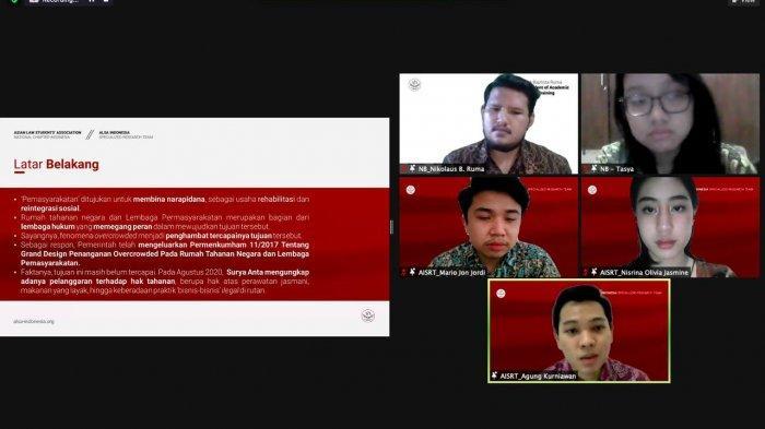 """ALSA Indonesia menggelar Legal Discussion #5 dengan tema """"Fenomena Overcrowded dalam Rumah Tahanan Negara dan Lembaga Pemasyarakatan di Indonesia"""