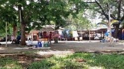 Wahana permainan di Lenggang Jakarta Monas stop beroperasi sejak pandemi Covid-19, pada Minggu (1/11/2020) siang.