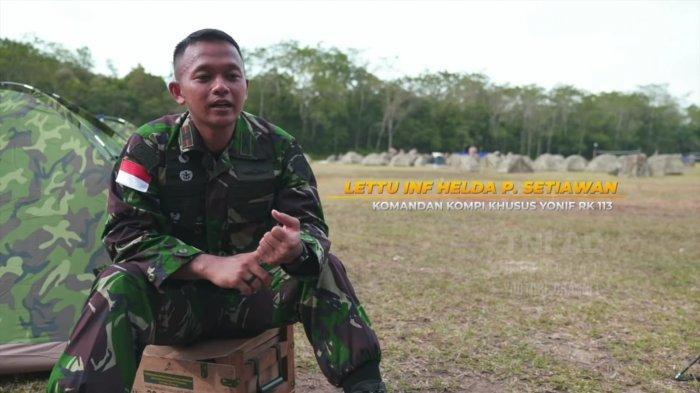 Lettu Inf Helda P Setiawan yang tergabung dalam Garuda Airborne.
