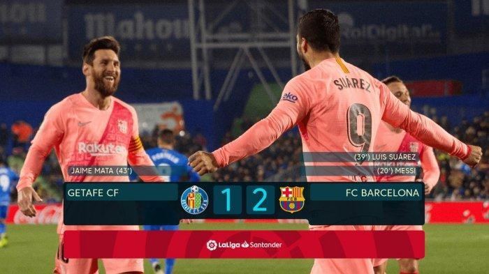 Awali 2019, Lionel Messi dan Luis Suarez Bawa Barcelona Menang 2-1 atas Getafe