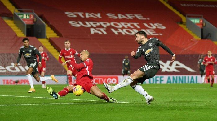 Hasil Liverpool Vs Man United Berakhir Imbang: Peluang Bruno Fernandes Digagalkan Alisson Becker