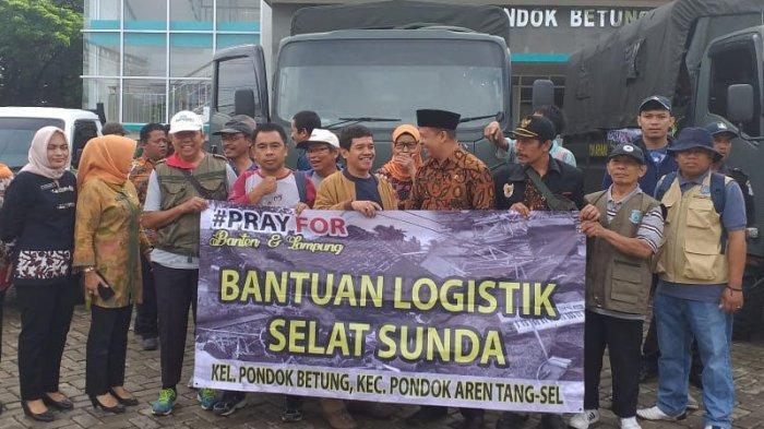 Warga Pondok Betung Kirim Bantuan Logistik untuk Korban Tsunami Banten