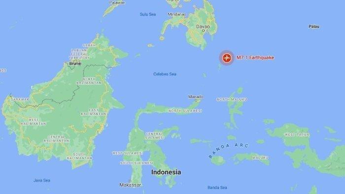 Penjelasan BMKG Soal Gempa Berkekuatan 7,0 di Kepulauan Talaud Sulawesi Utara