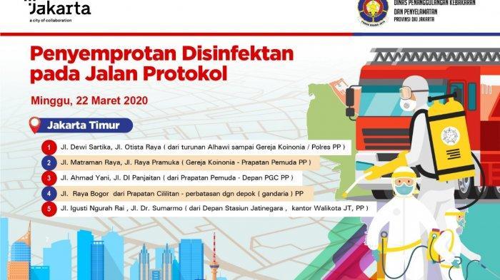 Besok, Jalan Protokol di Jakarta Timur Disemprot Disinfektan Untuk Antisipasi Covid-19