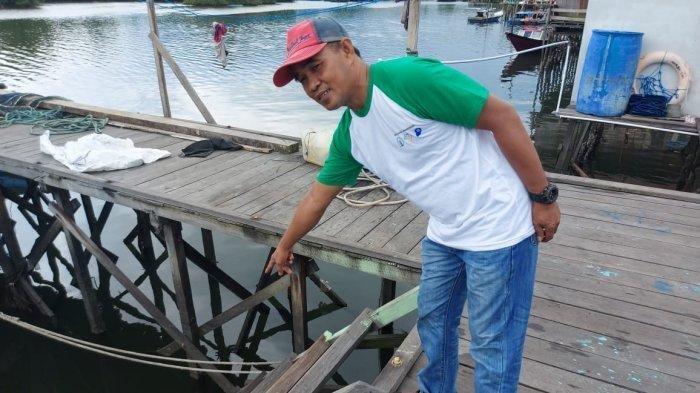 Lokasi kejadian buaya terkam bocah Andi Amin (12) asal Kampung Selambai Loktuan, Bontang Utara, Kota Bontang, Kalimantan Timur pada Kamis (31/12/2020).
