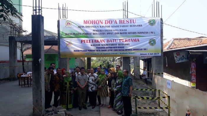 Pemerintah Kota Bekasi Bantu Bangun Kantor Ikatan Pejabat Pembuat Akta Tanah