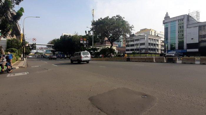 Tempat tawuran saat lebaran di Jalan KH Hasyim Ashari, Petojo Utara, Gambir, Jakarta Pusat, Kamis (13/5/2021).