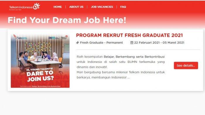 Segera Kirim Lamaran, PT Telkom Buka Lowongan Kerja, Fresh Graduate Bisa Mendaftar