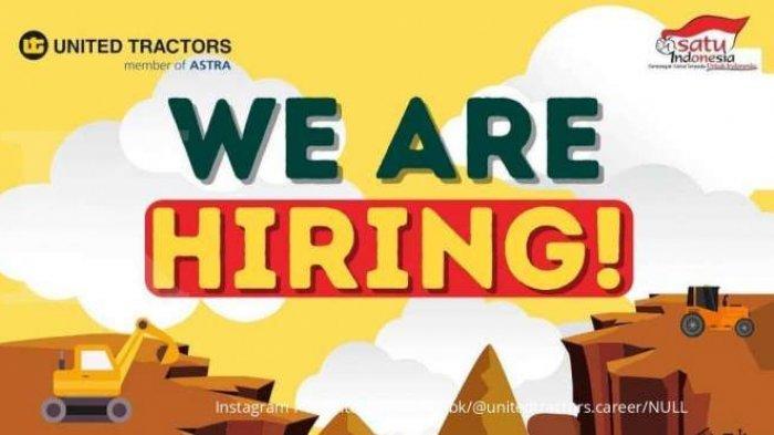 lowongan pekerjaan PT. United Tractors. Tbk.  Batas akhir pendaftaran lowongan pekerjaan PT. United Tractors pada 15 Januari 2021.
