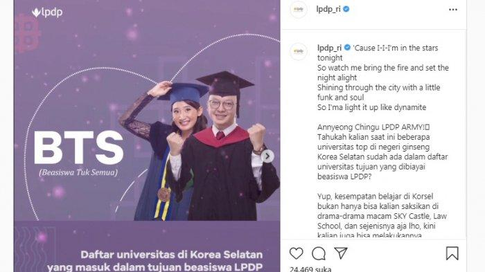 K-Pop Merapat! LPDP Buka Beasiswa BTS di Korea Selatan, Cek 3 Jalur yang Disediakan