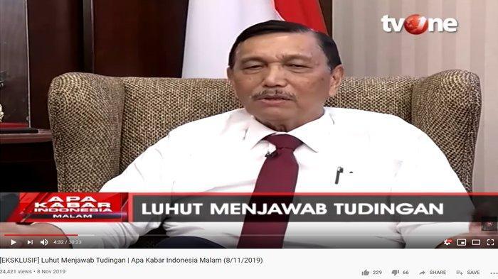 Beberkan Peran Dirinya di Balik Prabowo Subianto Jadi Menhan, Luhut Pandjaitan: Presiden Tanya Saya