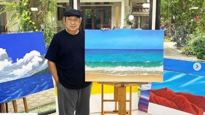 Nama Pak SBY Puncaki Trending Twitter, Lukisannya Dipuji Banyak Orang: Debur Ombak di Pantai Pacitan