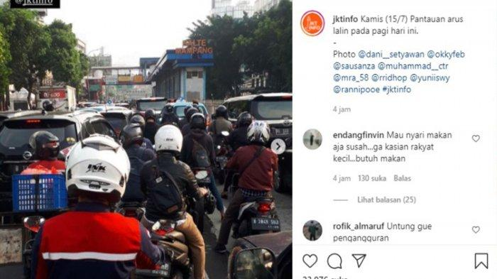 Penyekatan PPKM Buat Macet Panjang di Jalan Mampang, Polisi: Banyak Masyarakat Belum Tahu