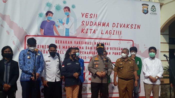 Gerakan Vaksinasi Nasional Sinergitas Mahasiswa dan Polda Sulsel dalam Penanggulangan Covid-19
