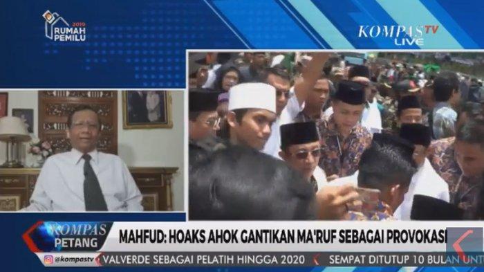Kampanye Negatif Maruf Diganti, Mahfud MD Bongkar Alasan Ahok Tak Mungkin Jadi Wakil Presiden Jokowi