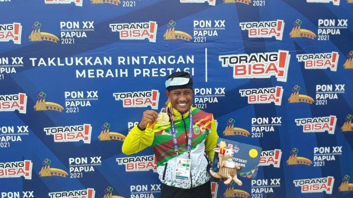 Maizir Riyondra Jadi yang Tercepat, Sumbang Medali Emas PON Papua Cabor Dayung Canoeing