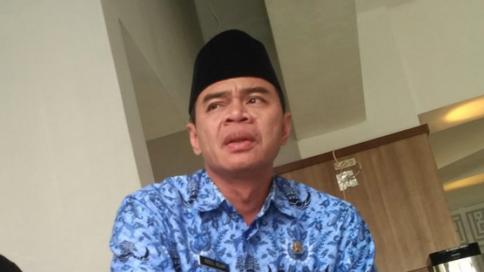 Sekretaris Umum Majelis Ulama Indonesia (MUI) Kota Tangsel, Abdul Rojak di Masjid Al-I'tisham samping gedung Pemkot Tangsel, Jalan Maruga, Ciputat, Senin (5/6/2018)