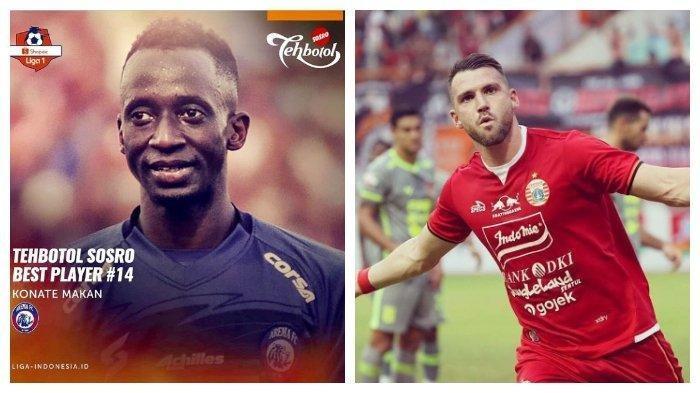 Hasil Liga 1 2019: Satu Gol Marko Simic Tak Mampu Buat Persija Jakarta Menang Atas Arema FC