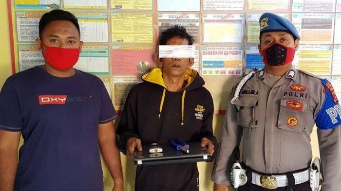 Maling Laptop di Aceh Beraksi Sambil Merokok: Asap Mengepul, Begini Endingnya