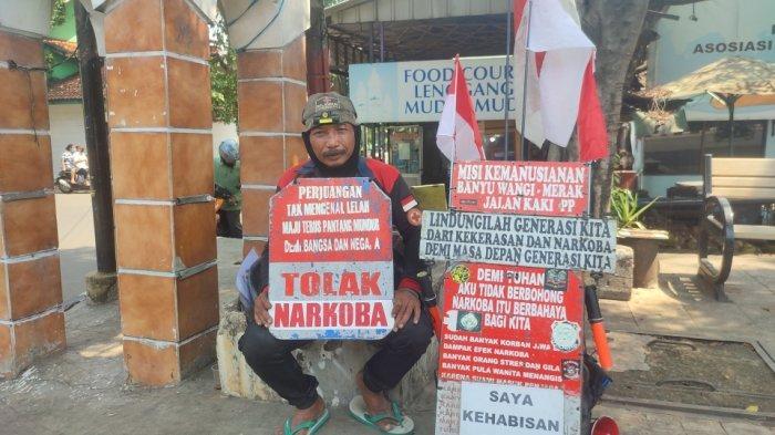 Cerita Man Rambo, Tiga Tahun Kampanye Bahaya Narkoba: Mantan Preman, Jalan Kaki Surabaya-Jakarta