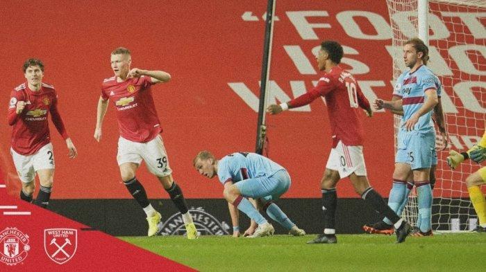 Hasil Liga Inggris: Manchester United Menang Lawan West Ham Berkat Gol Bunuh Diri