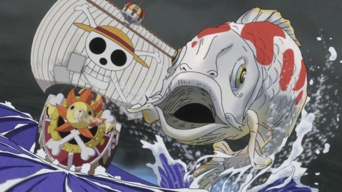 Jadwal One Piece 1015, Ikan Koi Raksasa Wanokuni Selamatkan Monkey D Luffy yang Terjatuh