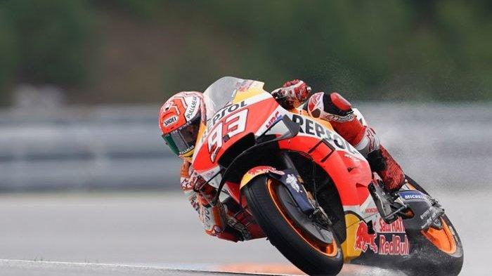 Marc Marquez Juara, Rossi Finish Posisi ke-8 MotoGP Spanyol 2019 di Sirkuit Aragon