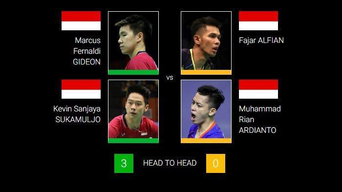 Sebentar Lagi Marcus/Kevin Vs Fajar/Rian di Malaysia Open 2019, Ini Link Live Streamingnya