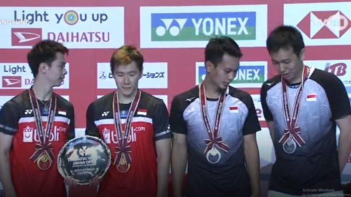 Gagal Revans: Ahsan/Hendra Kembali Dikalahkan Marcus/Kevin di Final Japan Open 2019