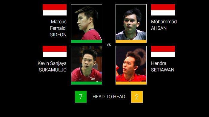 Marcus/Kevin Vs Ahsan/Hendra Sekarang: Derbi Final ke-3, Statistik dan Live Streaming